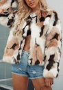 (Estimate Sent out within 3~6 work days) Faux Fur Coat Lapel Collar Short Overcoat Faux Fur Jacket Cardigan Warm Outerwear for Women