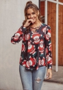 Women Fashion Christmas Long Sleeve Shirts