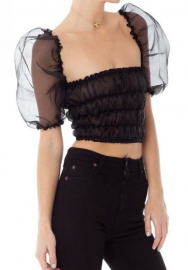 (Pre Sale)Women Fashion Mesh See Through Tops