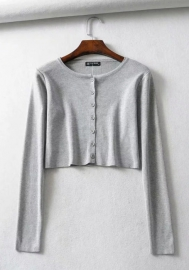 (Only Tops)Women Fashion Front Button Long Sleeve Classic Tops