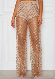 Women Sexy Sequins Long Pants