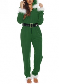 (Not Waist Tie)Women Fashion Christmas Styles Jumpsuit