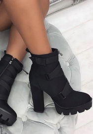 2020 Styles Women Fashion INS Styles Winter Platform Chunky Block High Heel Combat Boots Martins Shoes