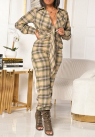 2020 Styles Women Fashion INS Styles Plaid Jumpsuit