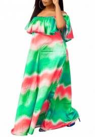 2020 Styles Women Fashion INS Styles Off Shoulder Maxi Dress